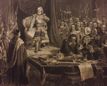Oliver Cromwell refusing the crown.