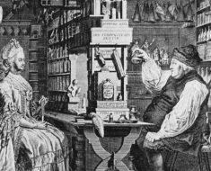 Pharmacie Rustique, by Nach Natur gezeichn et von G. Locher (1730 - 1795) (1774), graviert von Bartholomäus Hübner (1775) [Public domain], via Wikimedia Commons