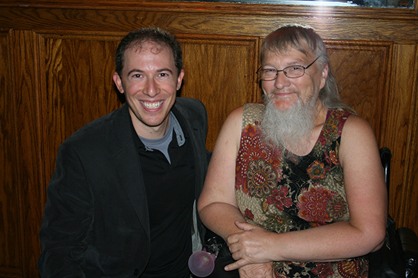 Marc Hartzman with Vivian Wheeler after taping Maury, 2010. Photo courtesy of Marc Hartzman.