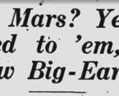Martians! This headline appeared in the Eugene Register-Guard on Oct. 22, 1928.