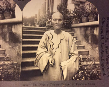 Dr. Ding, with three long fingernails. Hartzman Stereoview Collection.