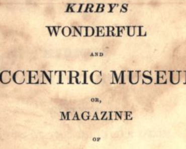 Kirby's Wonderful and Eccentric Museum, title page.
