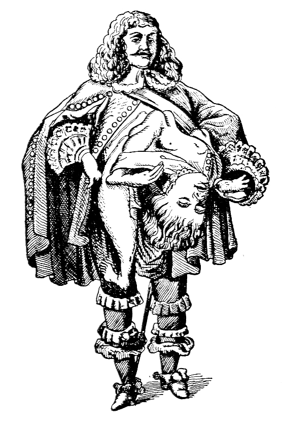 Lazarus-Johannes Baptista Colloredo. Image from Anomalies and Curiosities of Medicine, 1896.