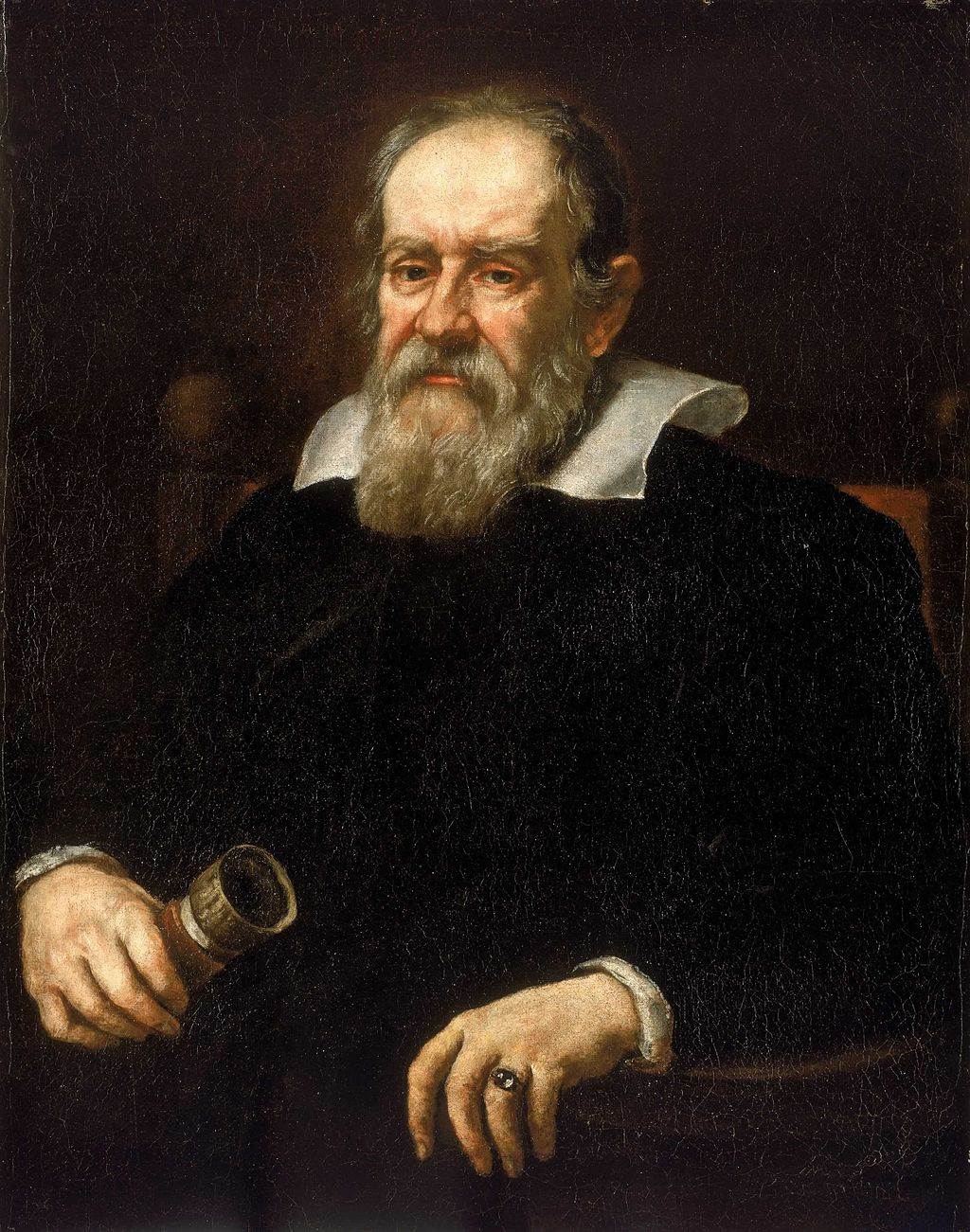 Galileo's fingers, before their removal. Justus Sustermans [Public domain or Public domain], via Wikimedia Commons