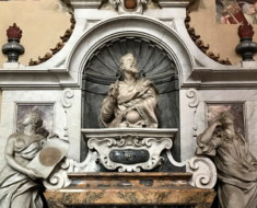 Galileo's mausoleum in Santa Croce.