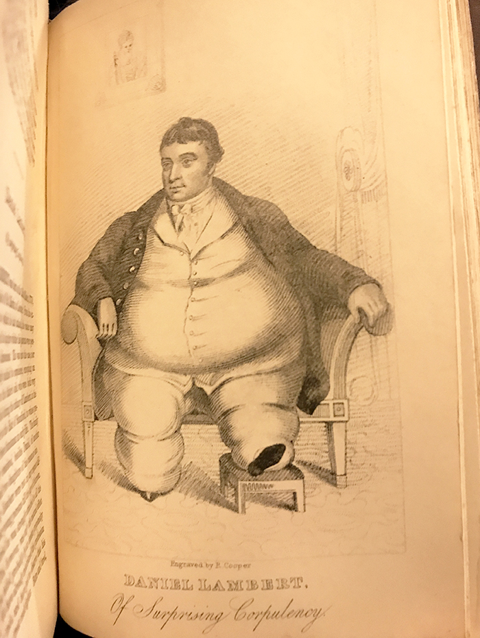 Daniel Lambert, as illustrated in The Book of Remarkable Characters, by Henry Wilson and James Caulfield.