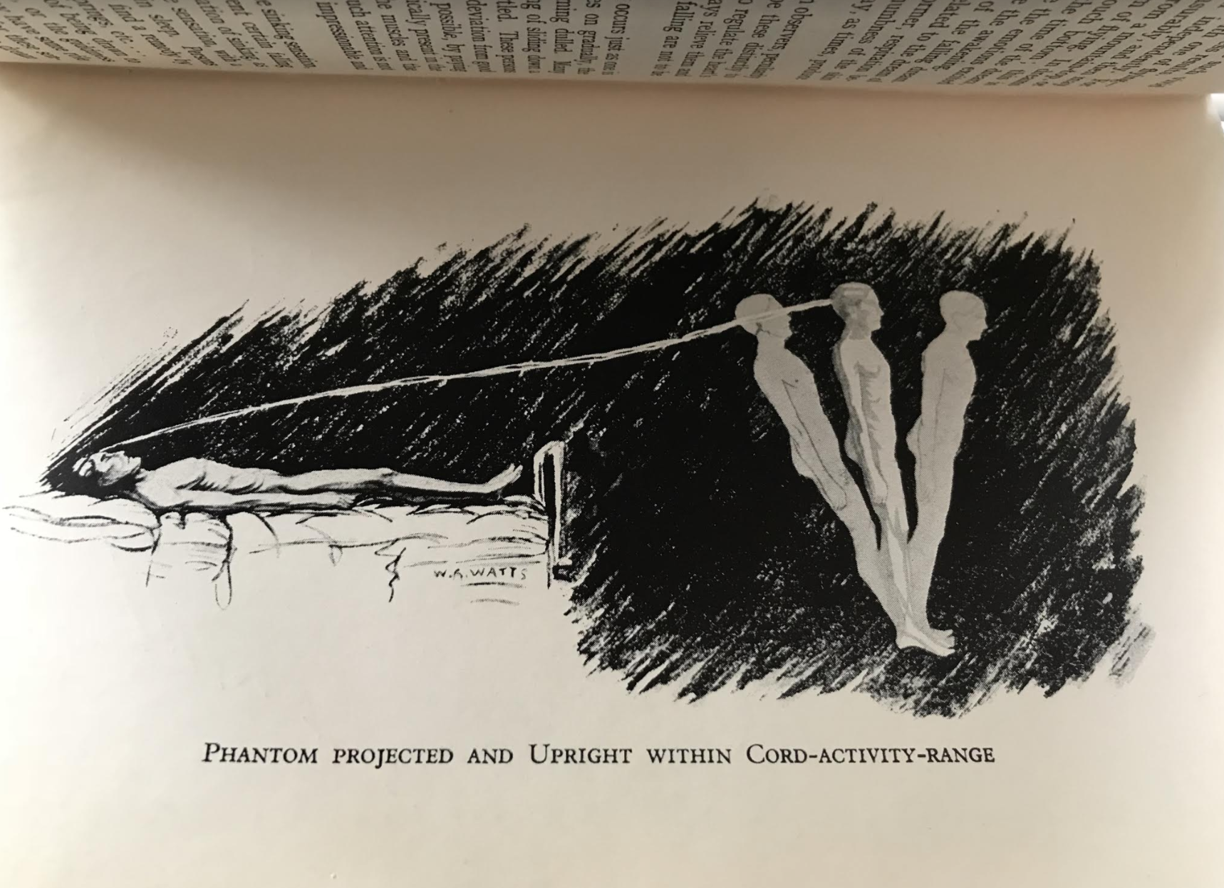 Astral Projection, from The Projection of the Astral Body, by Hereward Carrington and Sylvan Muldoon (1929).