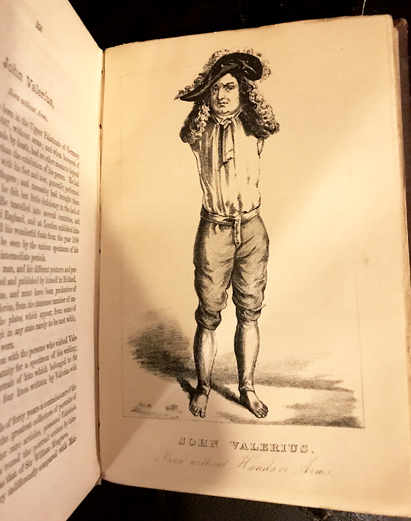 John Valerius, from The Book of Wonderful Characters, by James Caulfield and Henry Wilson.