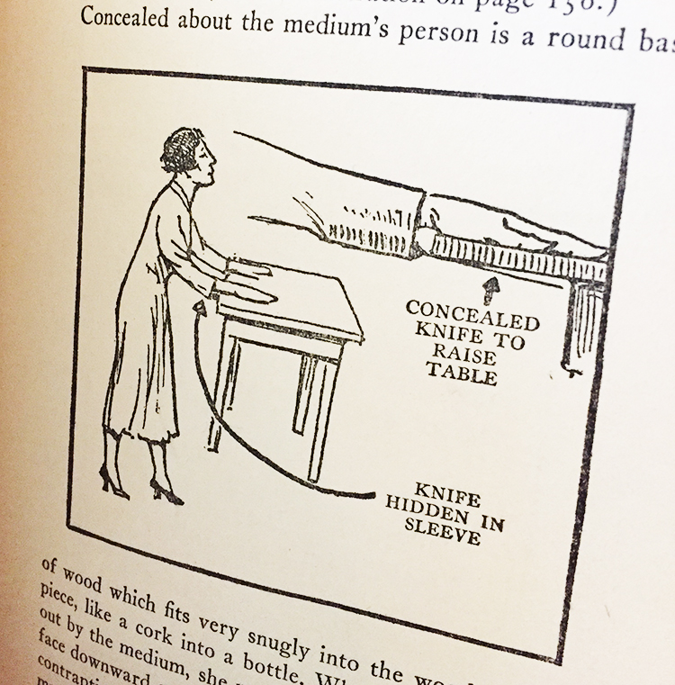 Table tipping, from Spook Crooks, by Julien Proskauer (1928)